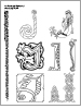 An Abecendary of Capitals, Letter J. Free calligraphy coloring page.